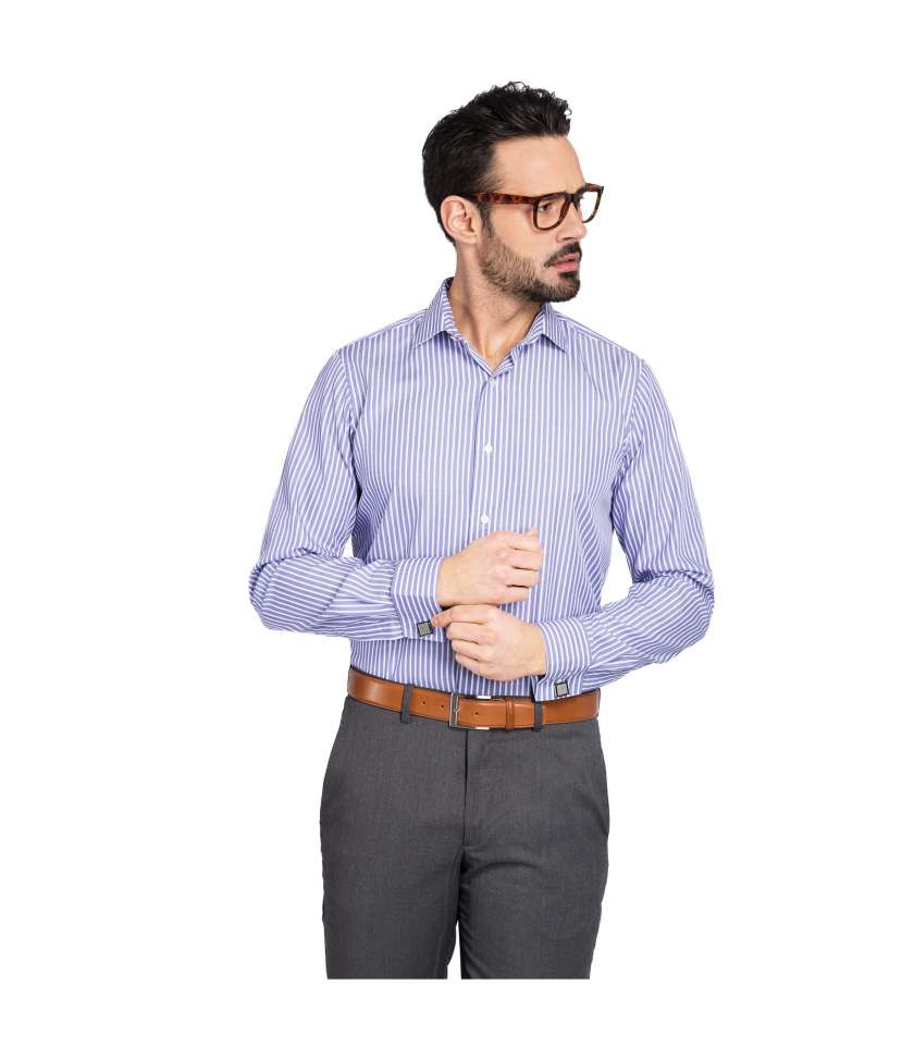 Non-iron classic fit shirt 100% cotton pink oxford