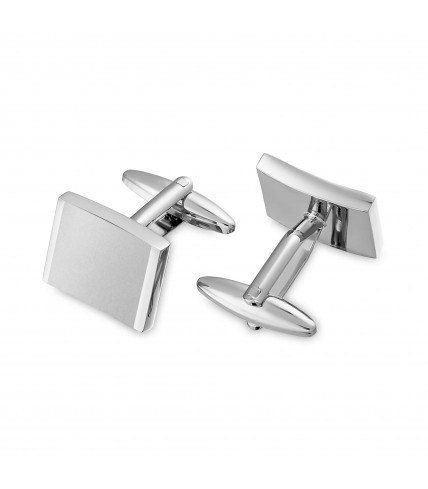 Square metal cuff links with cells and gloss