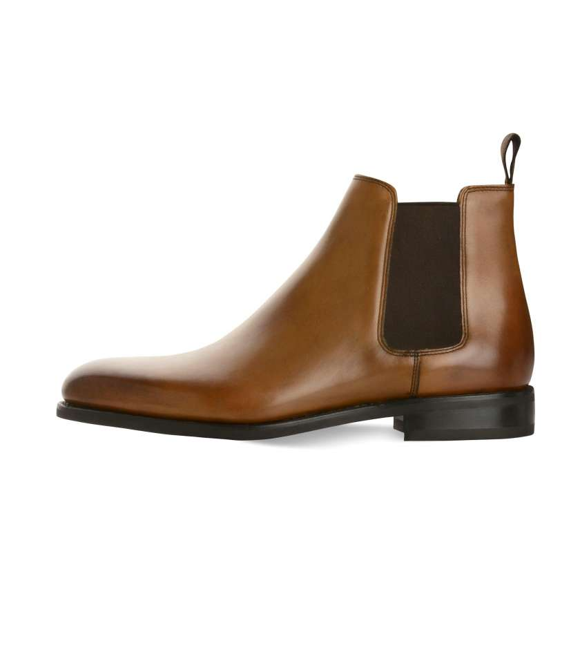Gold Chelsea boots 373