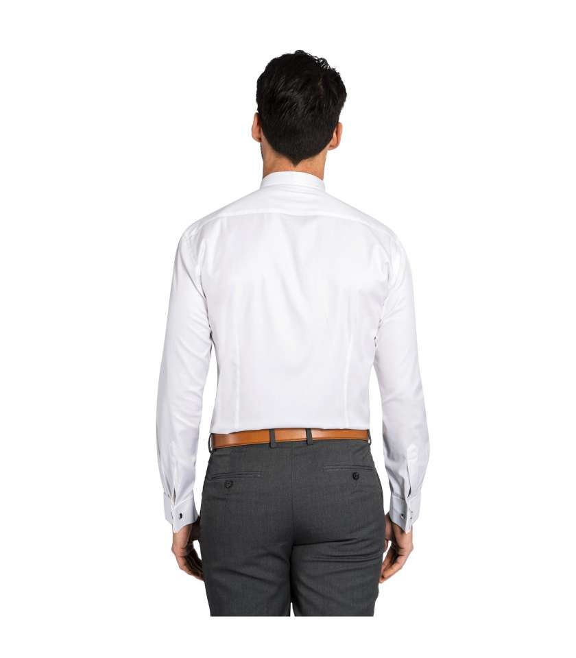 Non Iron Slim Fit White Dress Shirt Crafted In Egyptian Cotton