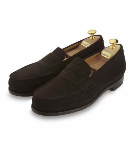 Mocassin Sulky veau velours marron box