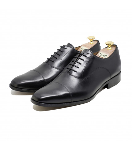 Straight toe-cap Oxford Albano 1001 - Black