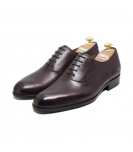 Round toe-cap Oxford Winston 1005 - Burgundy