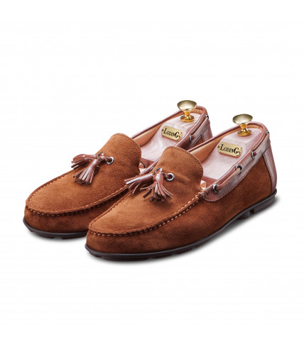 Tassel loafer Galapos 709 suede