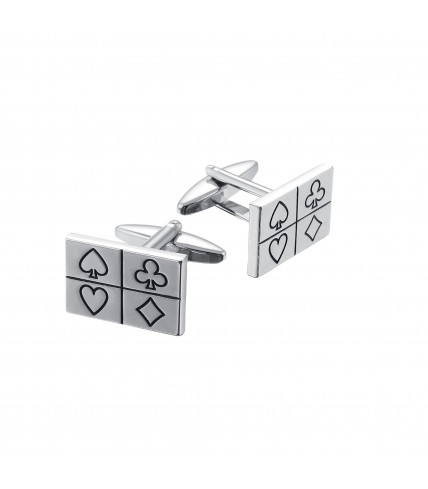 Poker playing card cufflinks