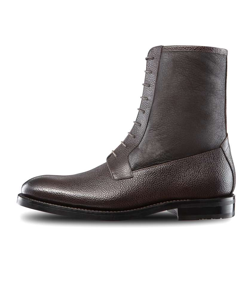 Bi-material balmoral lined dress boots Almaty 379