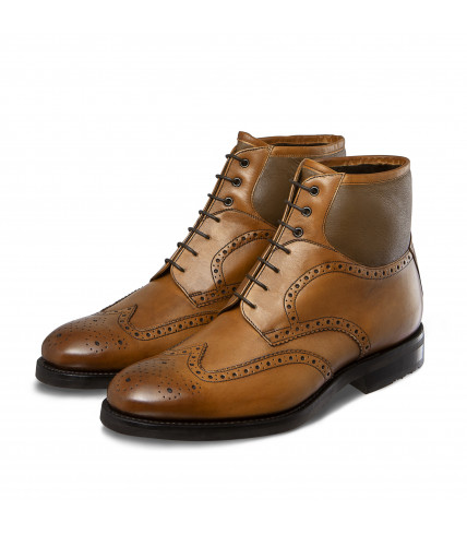 Bi-material Brogue lined dress boots Taimyr 322
