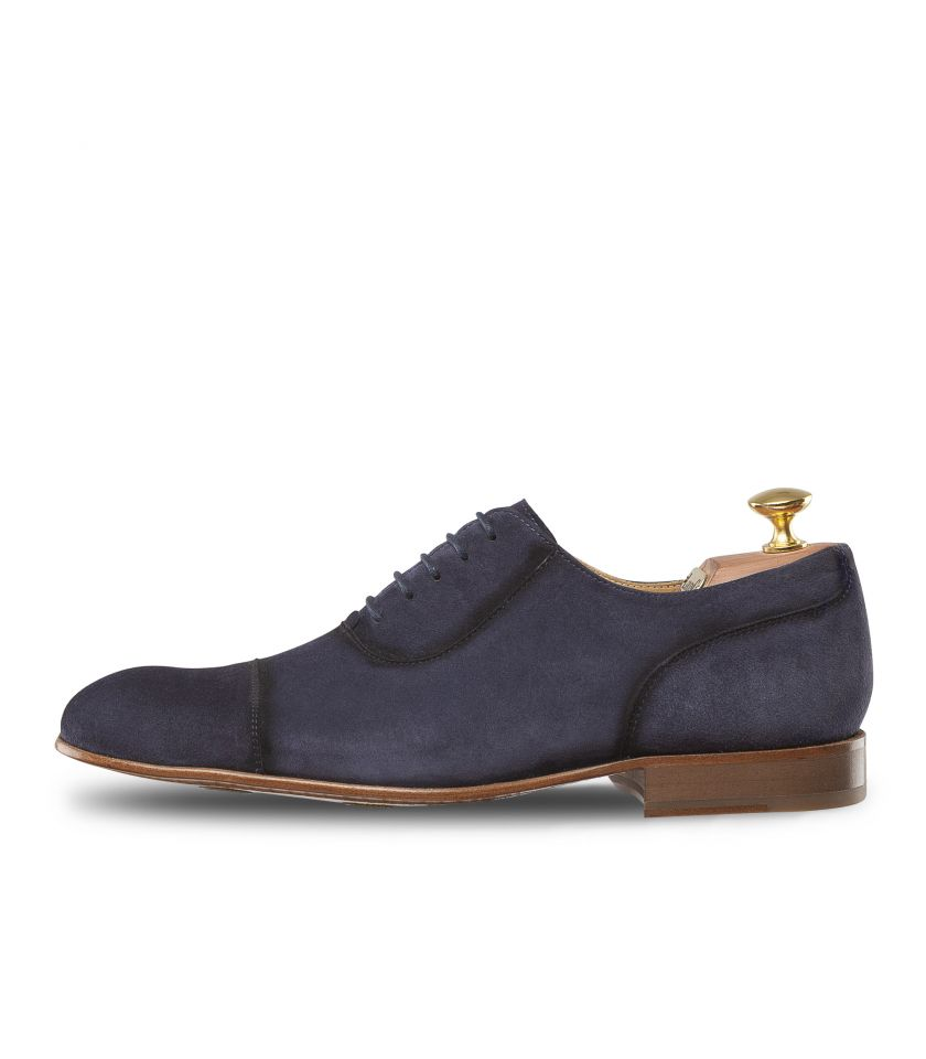 Suede Oxford Shoes with straight toe-cap 1011