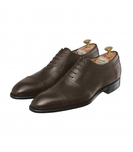 Grained Box Calf Oxford Shoes with straight toe-cap Vienne 383