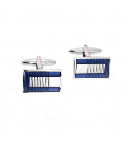 Rectangle cufflinks - Blue