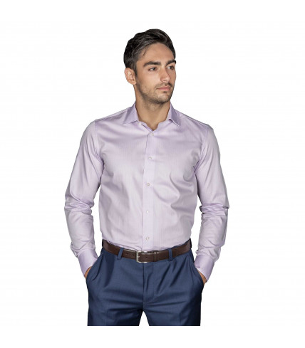 Plain Slim fit dress shirt 100% cotton - Parma