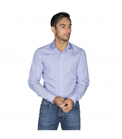 Non Iron Gingham Tiles Slim fit dress shirt of cotton