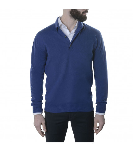 Pull col polo 100% cachemire